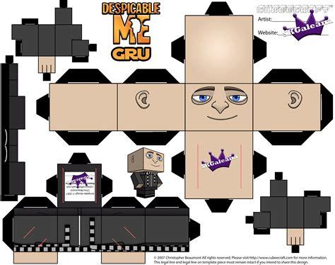 minion papercraft template gru http skgaleana com cubeecraft papercraft of gru