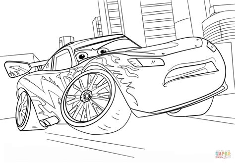 coloring pages cars 3 lightning mcqueen from cars 3 coloring page free