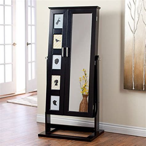 cheval mirror jewelry armoire high gloss black modern cheval mirror photo frames jewelry