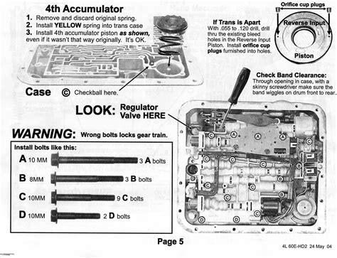 4l60e transmission valve diagram 4l60e valve bolt locations 4l60e get free image