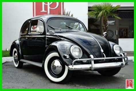 volkswagen oval window beetle black  red interior  miles  sale