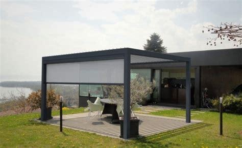 gazebo store pergola bioclimatique la toiture terrasse g 233 niale par