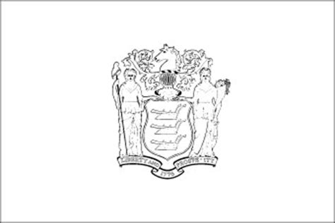 new jersey state flag coloring page sketch coloring page