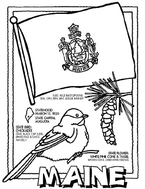 50 states coloring pages crayola maine crayola ca