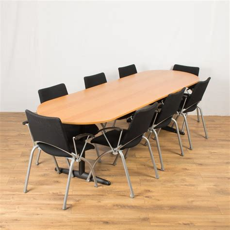 Beech Boardroom Table Beech Veneer 2600x800 Boardroom Table