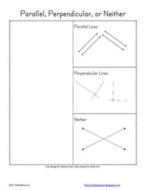 Parallel Perpendicular Or Neither Worksheet by Parallel Perpendicular Or Neither 4th 6th Grade