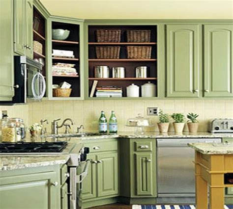 green painted kitchen interior and exterior design home buildings office