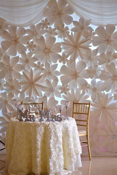 How To Make Paper Flowers For Wedding Decorations - wedding backdrops with paper flowers paper flowers