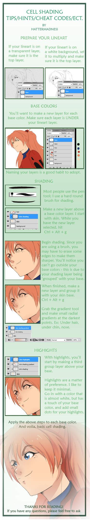 adobe photoshop shading tutorial cell shading tutorial by hattermadness on deviantart