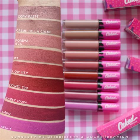 caked cosmetics swatched caked cosmetics lip fondant review lippielust