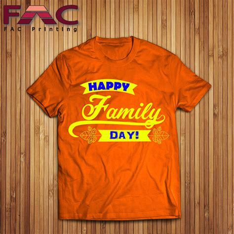 design baju family t shirt printing cetak baju berkualiti printing baju murah