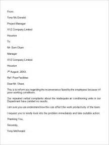 Complaint Letter To Company From Employee Complaint Letter 16 Free Documents In Word Pdf