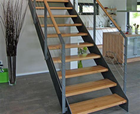 treppe stahlwange vario treppen plz 36179 bebra gerade treppe mit