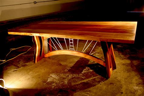Handcrafted Furniture Seattle - custom wood furniture reclaimed table seattle