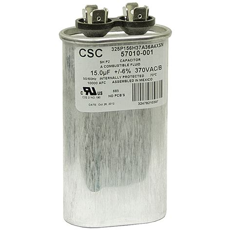 mfd run capacitor 15 mfd 370 vac run capacitor csc 325p156h37a36n4xsn motor run capacitors capacitors