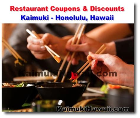 printable restaurant coupons honolulu kaimuki restaurant coupon and discount page honolulu