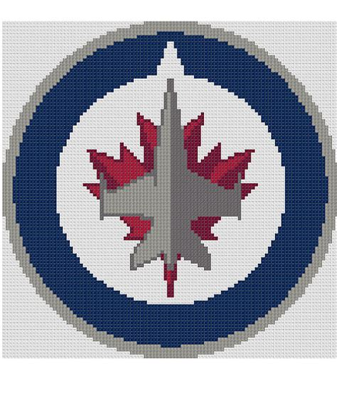 pattern maker winnipeg counted cross stitch pattern winnipeg jets nhl logo