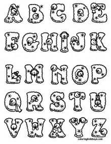 dibujos letras del abecedario colorear imprimir gratis