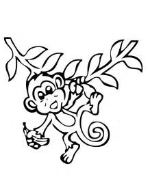 monkey coloring pages monkey coloring pages free large images