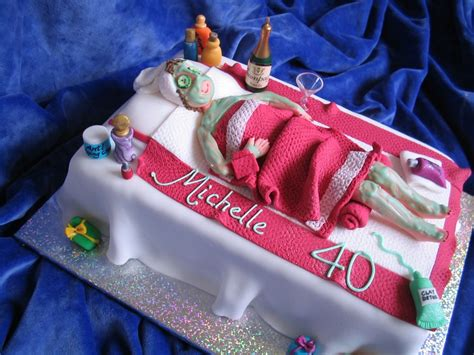 Home Window Decoration Ideas by My Cakes Michelle S 40th Birthday Cake Spa