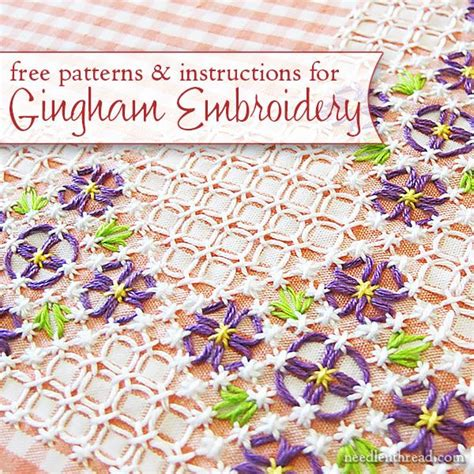 gingham pattern history chicken scratch gingham embroidery index some