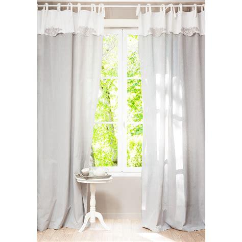 tende cotone tenda grigia in cotone con occhielli 140 x 300 cm