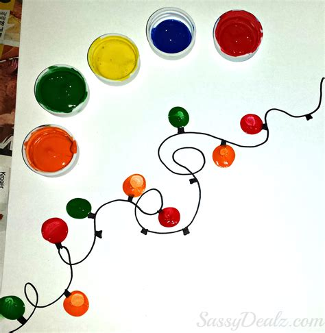 christmas lights craft for kids fingerprint light craft for diy card idea crafty morning