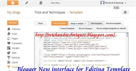 how to use blogger new interface for editing modifying