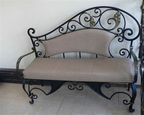 wrought iron furniture chairs and benches modern