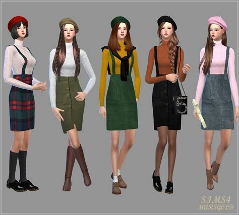Jaket Vest Hoodie Xcom 2 Advent 3 my sims 4 suspender h line skirt with sweater by