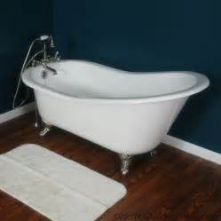claw bathtubs 61 quot cast iron slipper tub w claw classic