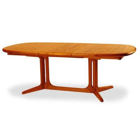 2056 2 teak dining table with 2 extension leaves scan