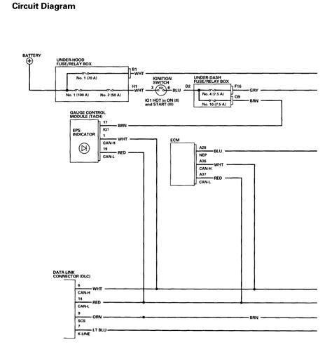 honda civic eps wiring diagram