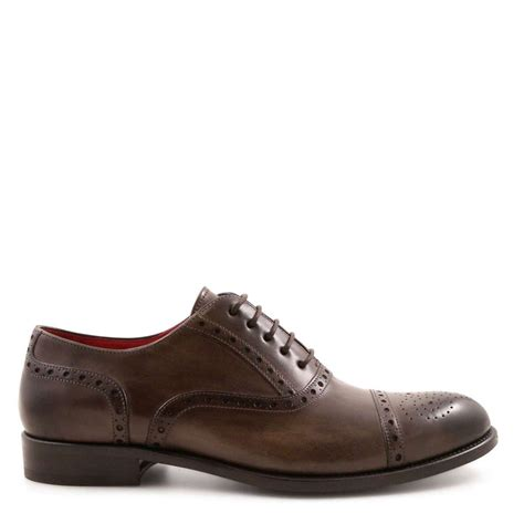 Handmade Shoes Mens - handmade s oxford shoes in taupe leather leonardo