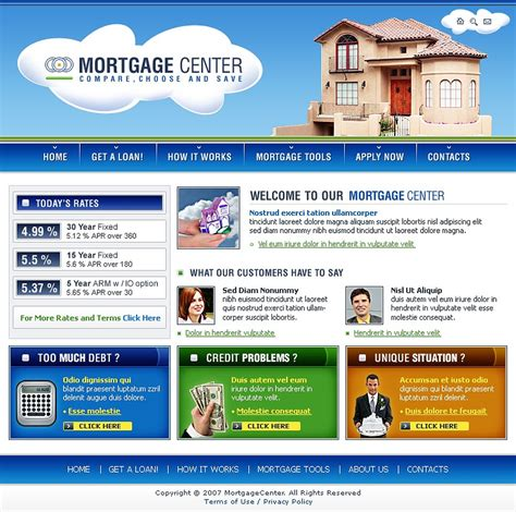 Mortgage Website Template Web Design Templates Website Templates Download Mortgage Website Mortgage Website Templates