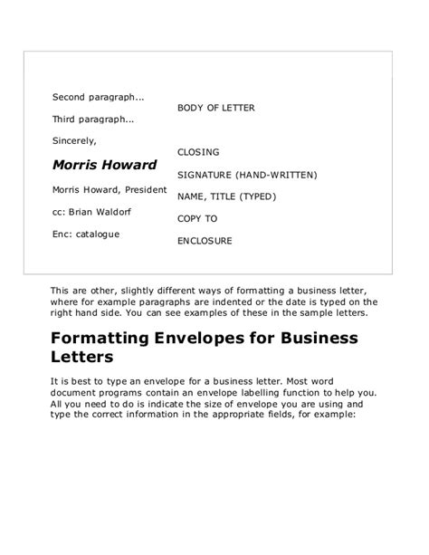 Business Letter Closing Company Name Business Letters In
