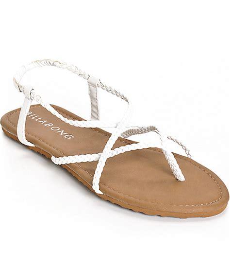 crossing sandals billabong crossing white sandals