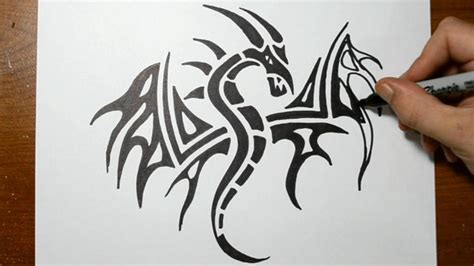 dragon tattoo drawing drawing www pixshark images