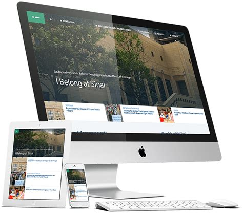 design portfolio header chicago sinai congregation website project