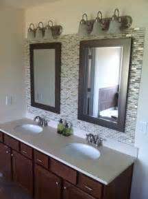 Glass Mosaic Tile Backsplash Bathroom - glass tile backsplash in bathroom 4029