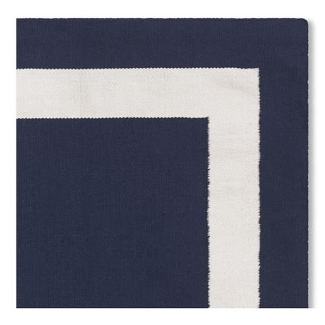 navy border rug solid border indoor outdoor rug swatch navy williams sonoma