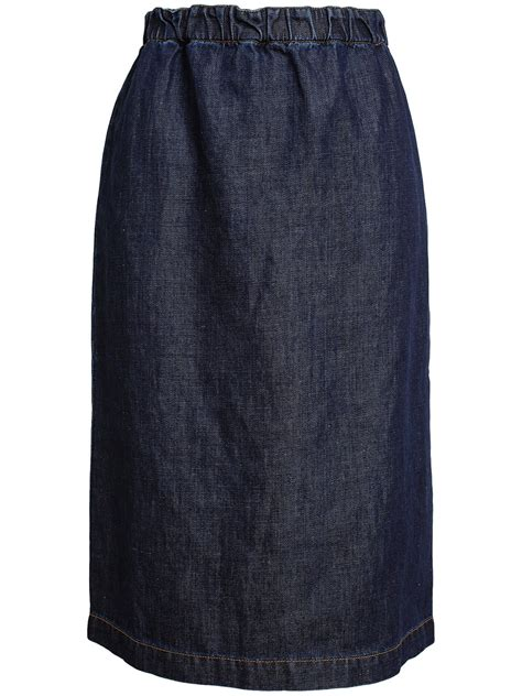 marni denim pencil skirt in blue lyst