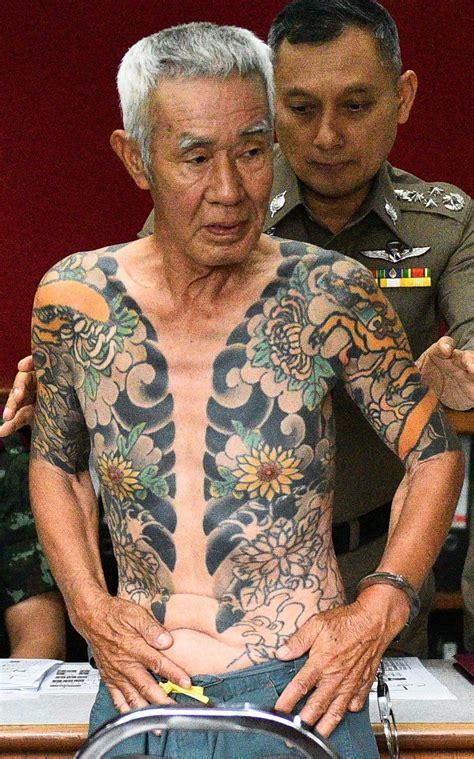 tattoo japanese mafia tattoos leads to arrest of japanese mafia boss daily