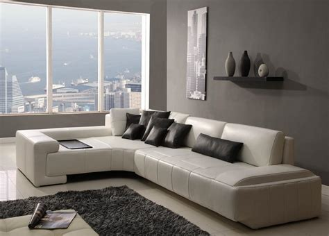 Modern White Leather Living Room Furniture Cabinet White Leather Living Room Furniture