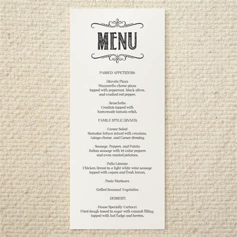 free printable menu templates for wedding diy wedding menu handlettered rustic printable pdf template instant papel