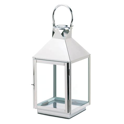 large candle lantern silver stainless steel candle
