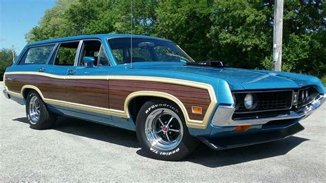 blue station wagon torino squire wagon for sale autos weblog