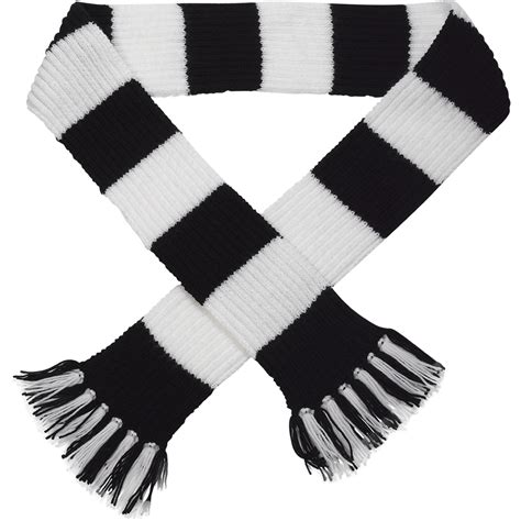black and white yarn patterns craft hobby knitted scarf kit football rugby dk double