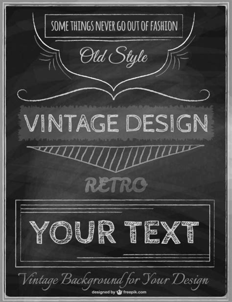 vintage templates for word vintage poster template vector free download