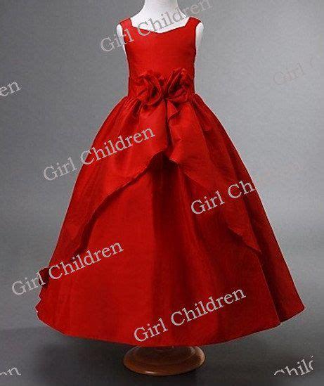 Red wedding flower girl dress princess flower girl christmas dress